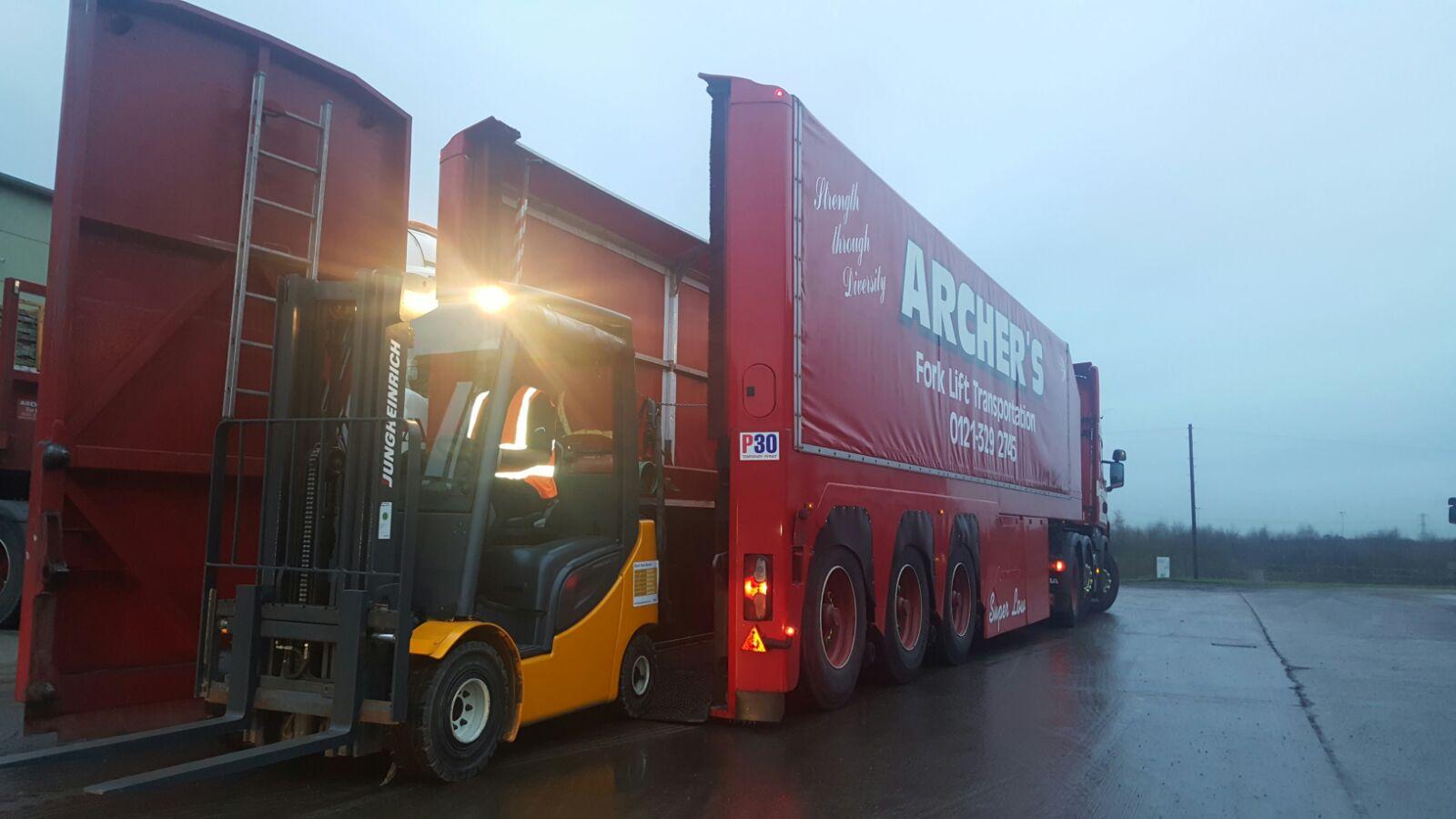 superlow trailer unloading counterbalance